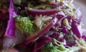 Salade de chou rouge et brocoli