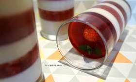 Pana cotta vanille, menthe-chocolat et fraises en 3 façons