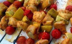 Brochettes de poulet au citron