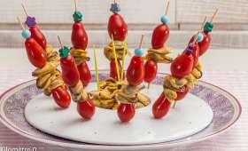 Brochettes de tomates cerises aux moules