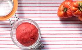 Concentré de tomate fermenté (cru) maison