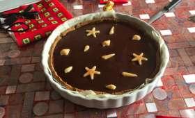 Tarte au chocolat et caramel au beurre salé