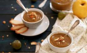 Compote reine-claude, pomme, vanille