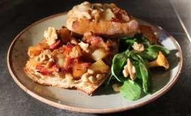 Tartine à la Fourme de Montbrison : le grilled-cheese revisité