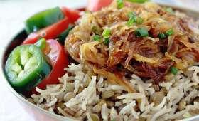 Lentilles au riz