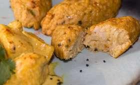 Poulet curry et coco, quenelles de chou-fleur au curry
