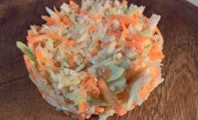 Salade de chou et carotte à la coleslaw sucrée