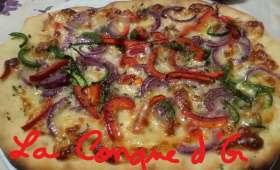 Pizza blanche aux deux poivrons