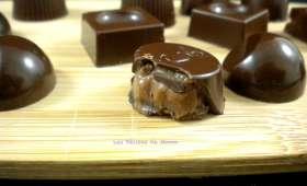 Pralines au caramel ou chocolats fourrés