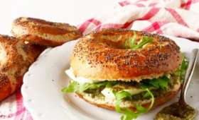 Bagels sans gluten pesto-mozzarella