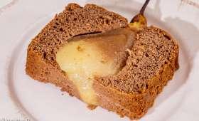 Gâteau du matin choco poires