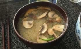 Soupe miso aux champignons