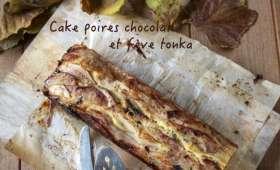 Cake aux poires, chocolat et fève tonka