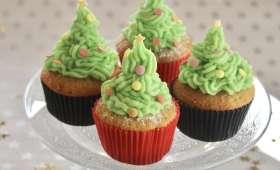 Cupcakes sapins de Noël