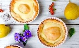 Tarte amandine aux poires et gingembre