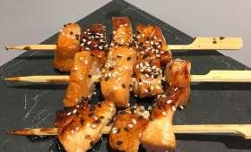 Brochettes de saumon japonaises