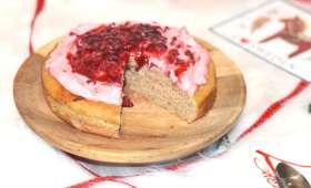 Gâteau pain d'épices et framboises