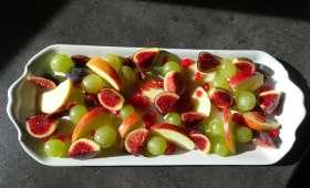 Salade de fruits au sirop de cannelle
