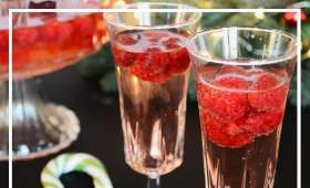 Soupe de champagne aux framboises