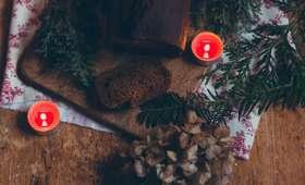 Cake à la patate douce et thé de Noël