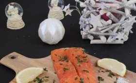 Le saumon gravlax aux algues