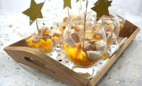 Verrine de foie gras, kaki et Muscat de Rivesaltes