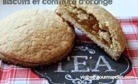 Biscuits au cœur confiture d'orange