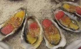 Huîtres chaudes aux agrumes et au zestes
