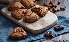 Scone de noisette et pépites de chocolat