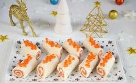 Mini bûches saumon et tarama