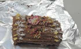 Mini bûches roulées pralinées, chocolat