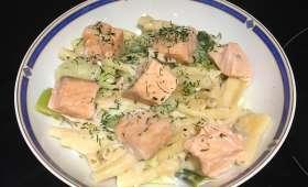 One pot pasta saumon poireaux