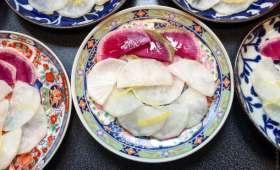 Tsukemono de radis daikon et red meat