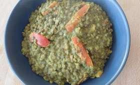 Lentilles au lait de coco et curry