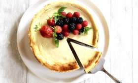 Cheesecake léger aux spéculos et fruits rouges