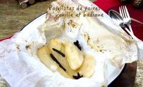 Papillotes de poires à la vanille et badiane