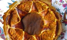 Feuilleté végétal de butternut aux poireaux