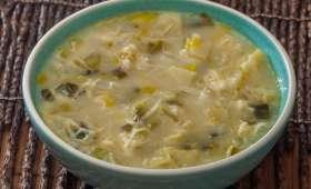 Soupe suisse au gruyère