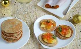Blinis sarrasin poutargue et beurre citron