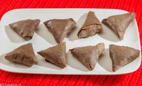 Samossas de galettes pétoncles champignons