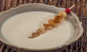 Soupe de chou fleur aux pétoncles