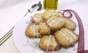 Sablés huile d'olive, citron et lavande