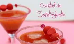 Cocktail de Saint-Valentin vodka et Tagada
