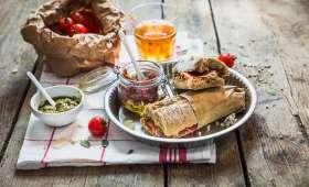 Sandwich au jambon pesto et tomates séchées