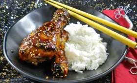 Pilons de poulet laqués au miel