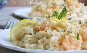 Risotto aux crevettes et citron crémeux