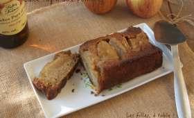 Cake tatin aux pommes, sirop au calvados
