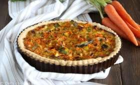 Quiche poireaux-carottes épicée au curry