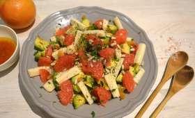 Salade colorée au sel rose d'Himalaya et sa vinaigrette à l'orange