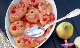 Gratin de poires aux pralines et aux amandes